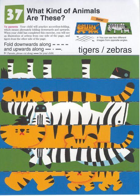Vouw een tijger van de zebra