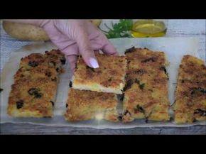 SCHIACCIATA DI PATATE con tonno e olive VELOCISSIMA