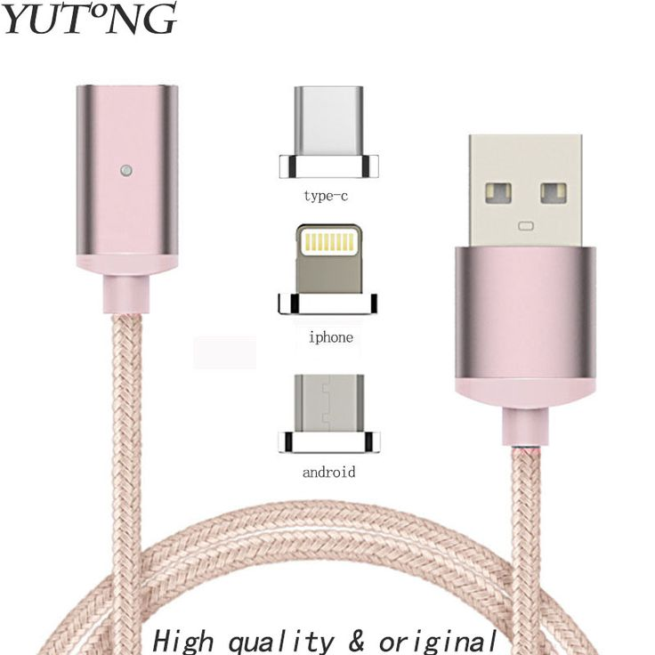 Fast Charging Data Sync Newest 1m Nylon magnetic Cable Micro Usb C Charger for IPhone 6 5s Plus Android Phone free ship