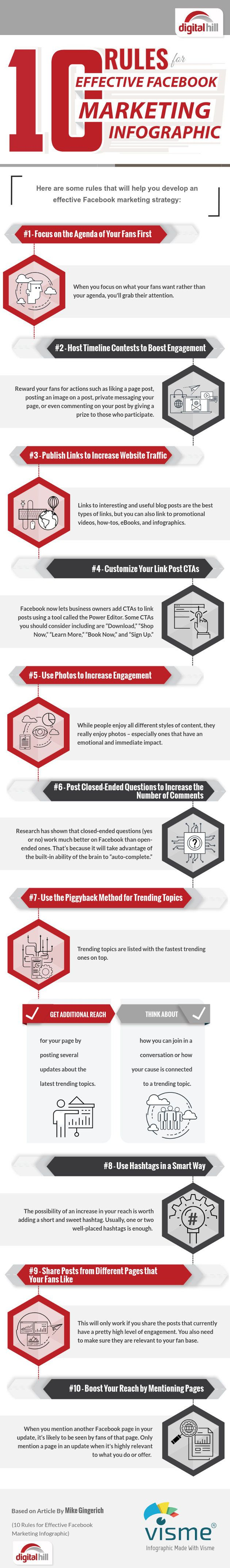 Social Media - 10 Rules for Effective Facebook Marketing [Infographic] : MarketingProfs Article