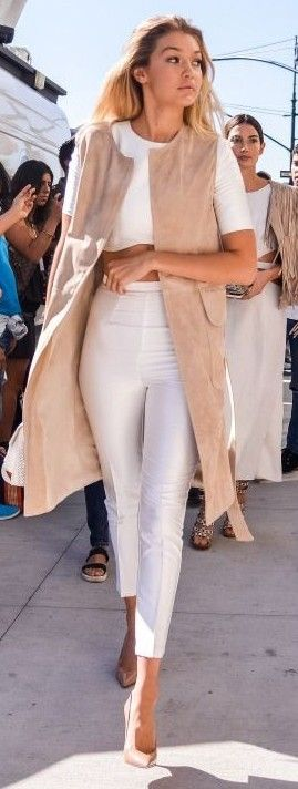 Nude + White | Gigi Hadid                                                                             Source