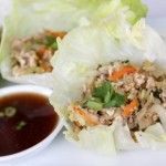 Asian Lettuce Wraps.  These are SO good.  Seriously, my roommate and I almost lived on them this summer.