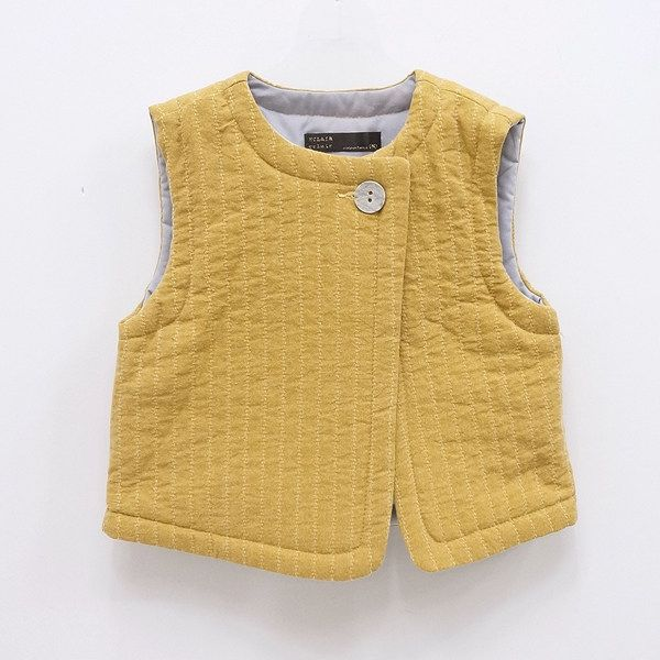 Eclair Mabel Vest - link is broken but use for inspiration. Could sew binding around edges.