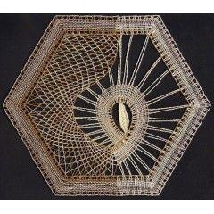Šestiúhelník - Podvinky k paličkované krajce
