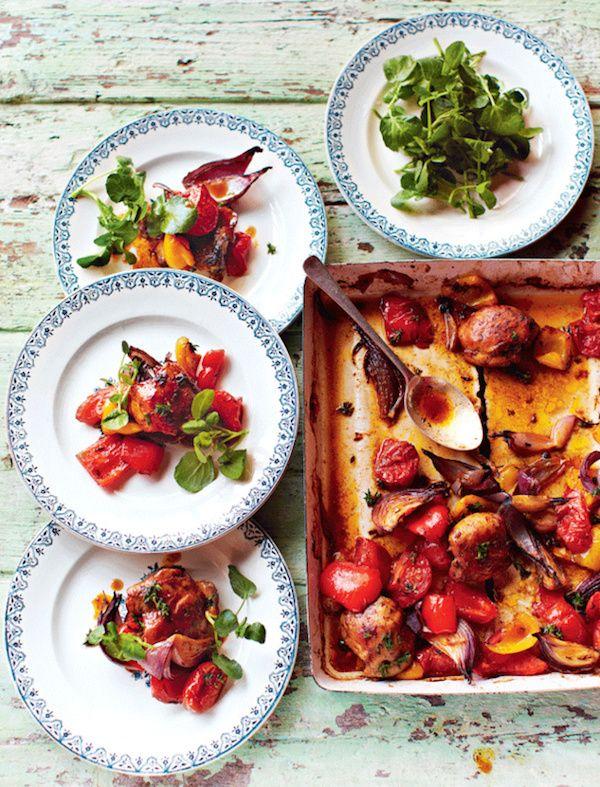 Recette Poulet express au four de Jamie Oliver / Recipe quick chicken - Jamie Oliver