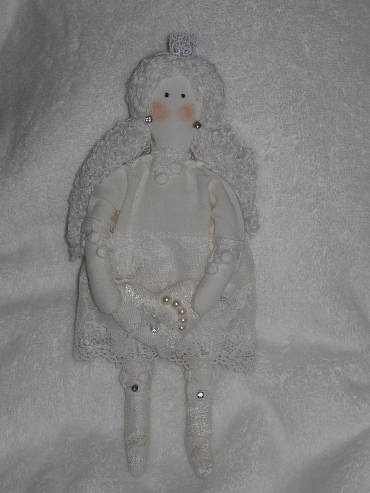 New unique handmade textile Tilda doll toy princess by royalknitting on Etsy