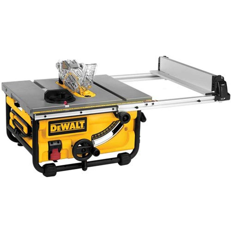 And this is the table saw I want! (DEWALT 10 in. Compact Job Site Table Saw)