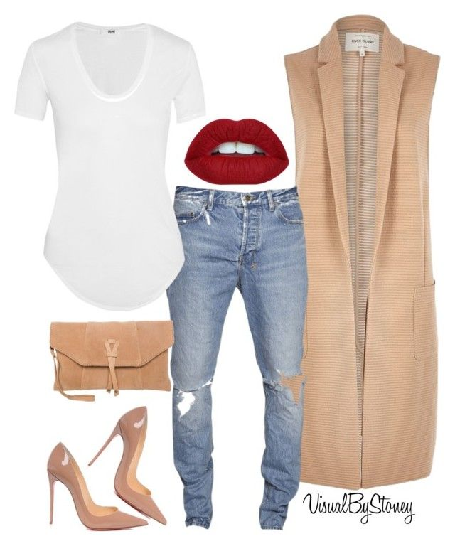 """Untitled #791"" by fashionaffiliated ❤ liked on Polyvore featuring River Island, Christian Louboutin, Helmut Lang and Zign"