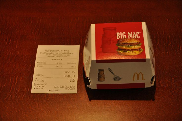 Big Mac in Budapest, for 860 HUF = $3.80