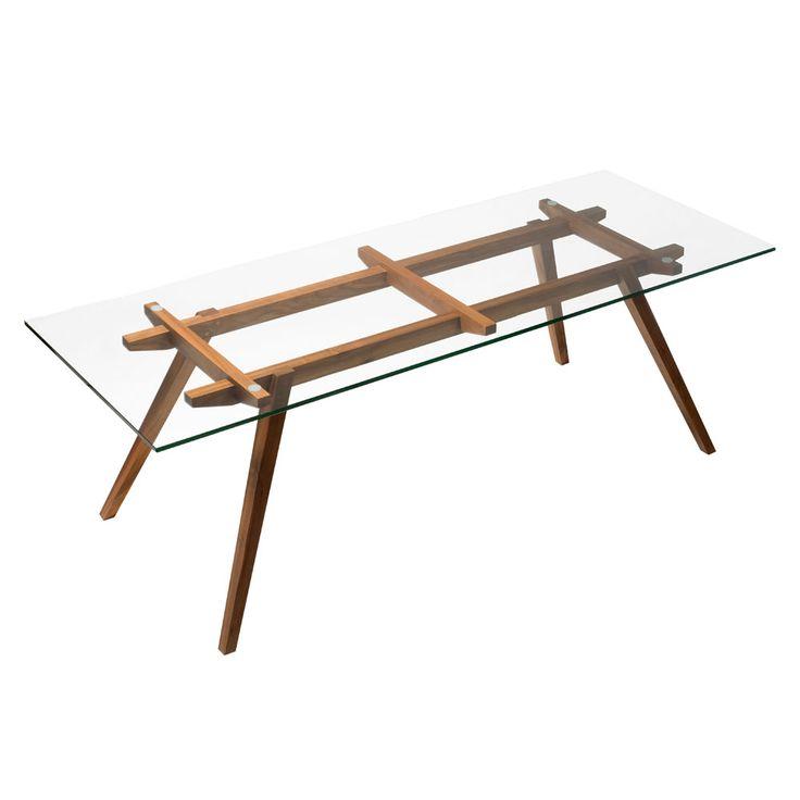 Sticotti Glass Dining Table | Clickon Furniture | Designer Modern Classic Furniture