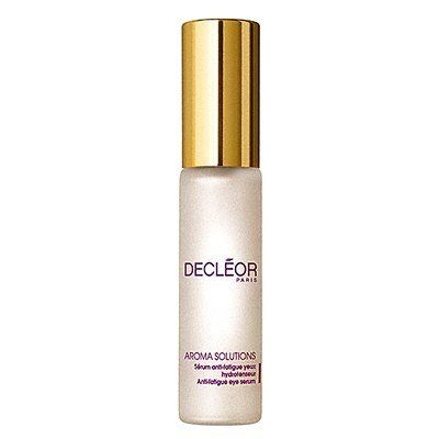 Decleor Aroma Solutions Anti-Fatigue Eye Serum 0.5 fl oz. by Decleor. Save 23 Off!. $47.23. Decleor Aroma Solutions Anti-Fatigue Eye Serum tightens and prevents wrinkles and fine lines, as it immediately soothes even the most fragile skin while reducing and preventing puffiness. It boosts firmness and suppleness to restore a supple texture, resulting in a younger appearance. (Due to a manufacturer packaging change, item received may vary from photograph.)