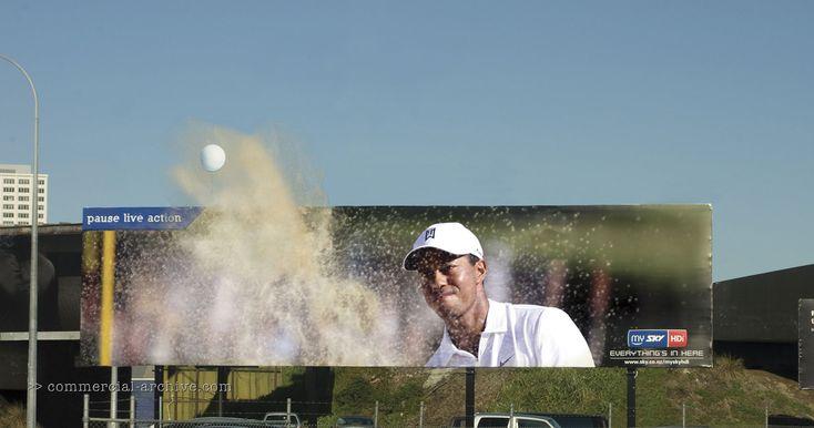 SKY TV Live Pause - Golf, Rugby, Football - billboards New Zealand print | adland.tv