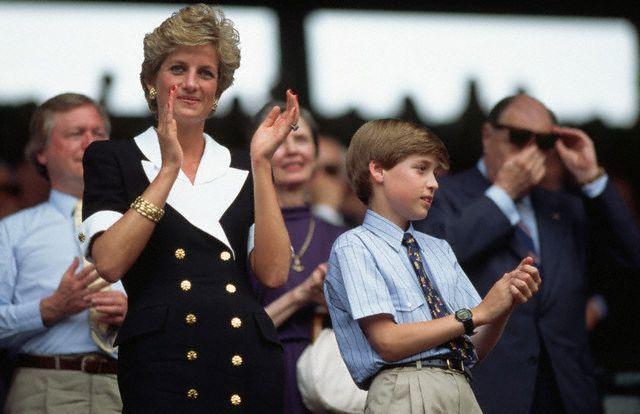Princess Diana and Prince William at Wimbledon 1994