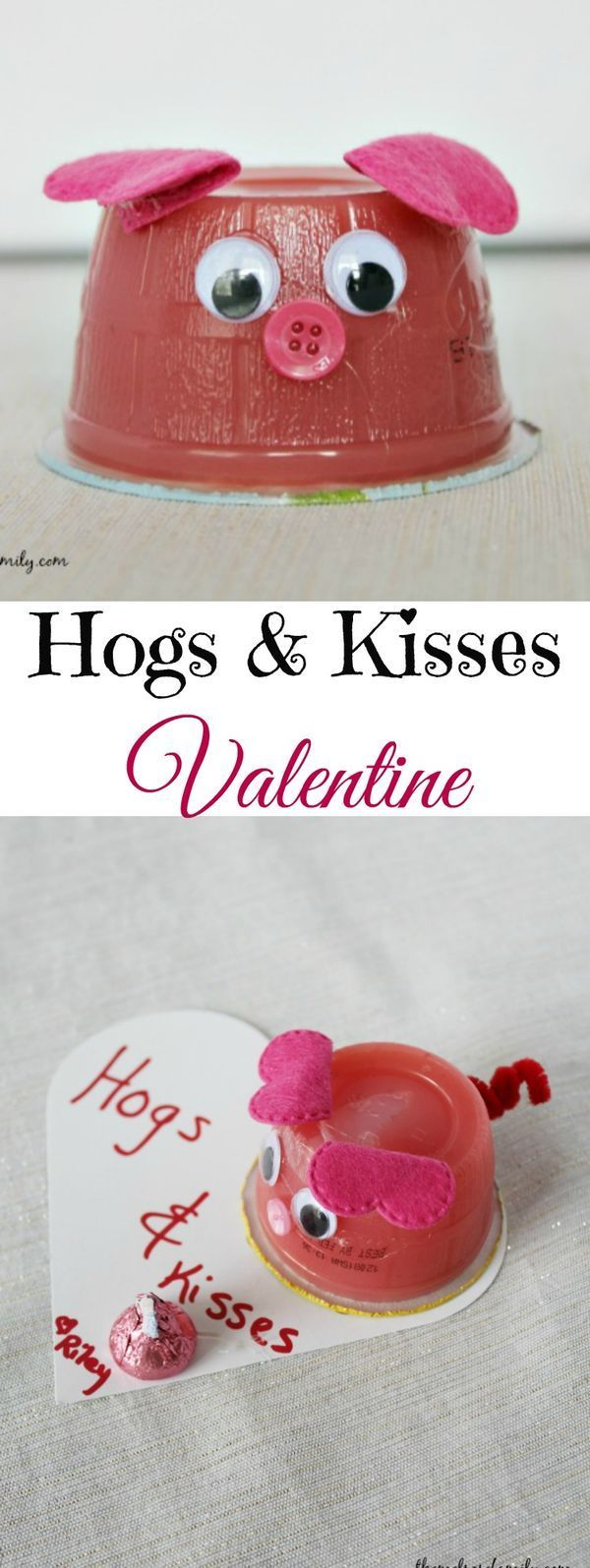 Hogs & Kisses Valentine is the cutest Valentine idea for a class or just someone you want to cheer up.