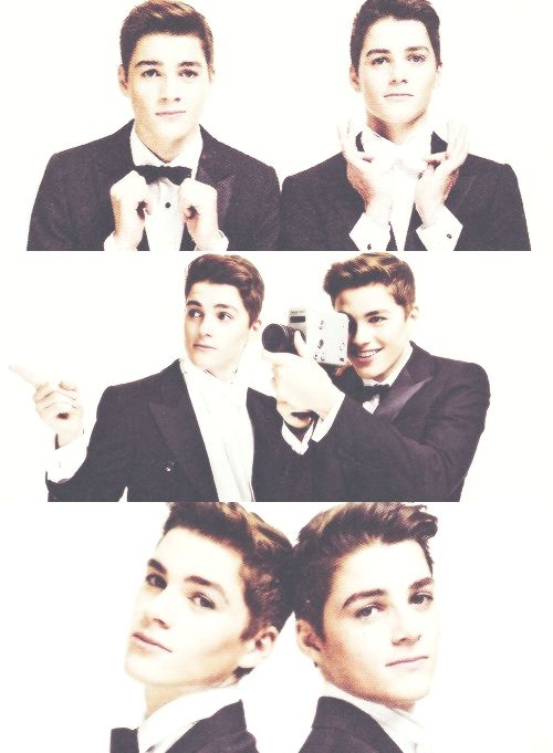 Twins, twins, with good chins, they're names are Jack and Finn ♥ ♥ ♥