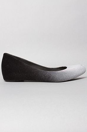 Melissa Shoes - The Ultragirl Degrade Shoe in Black and Gray