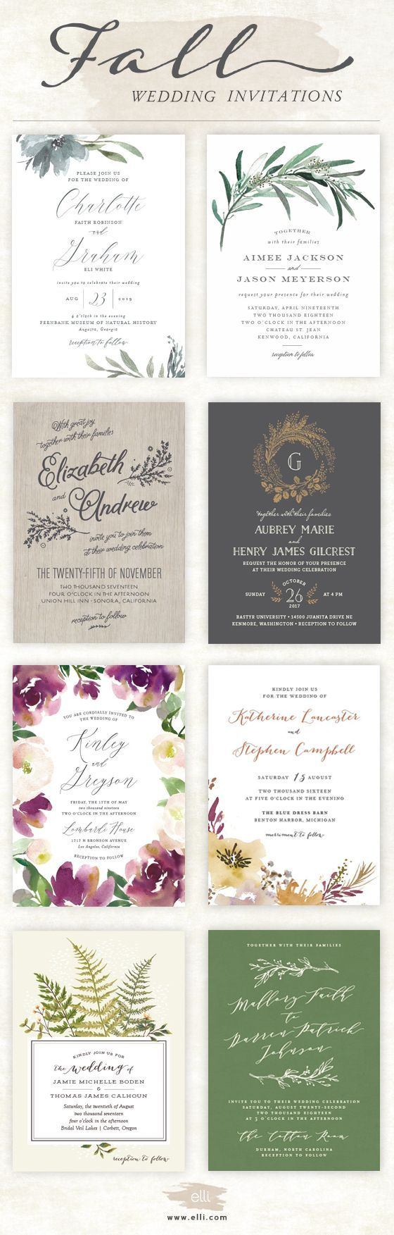 luau wedding invitation templates%0A Top wedding invitations for Fall  Click here to see more stunning fall  designs