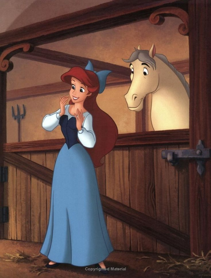 Ariel And Her Horse Diamond The Little Mermaid 1989