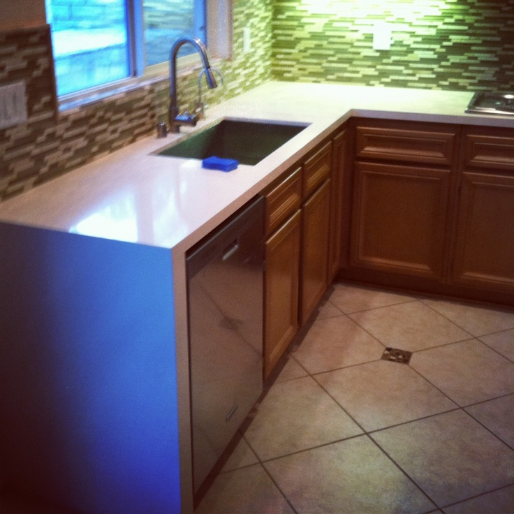 Silestone Countertop With Waterfall Edge For The Home