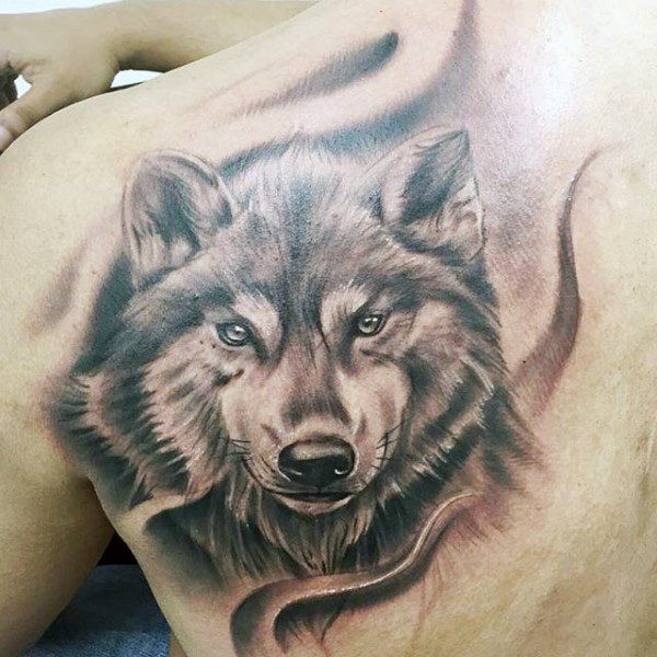 40 wolf back tattoo designs for men fierce ink ideas wolf tattoo and wolf tattoos. Black Bedroom Furniture Sets. Home Design Ideas
