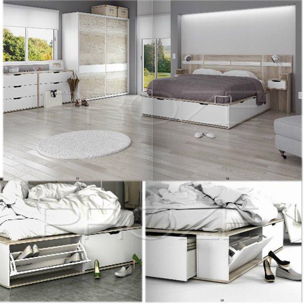 Las 25 mejores ideas sobre cama 2 plazas en pinterest for Cama 2 plazas con cajones