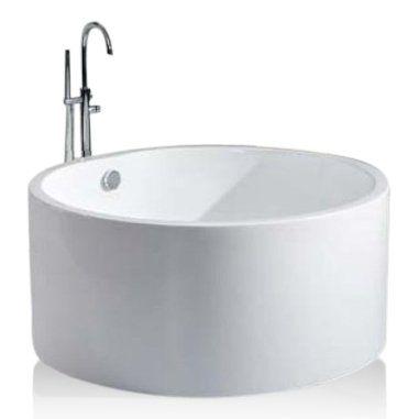 Sem Malawi vrijstaand bad rond 130x130x58cm wit - Badkamer & Co