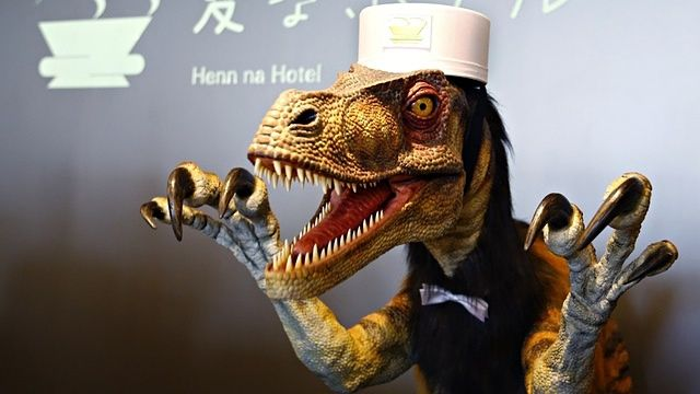 Japan's robot hotel: a dinosaur at reception, a machine for room service | World news | The Guardian 2015