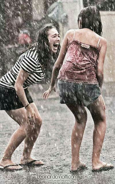 No matter how old you are, you be come a kid again when you dance in the rain!
