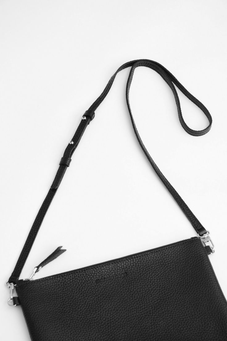 Crossbody Pebbled Leather Clutch by morelebags