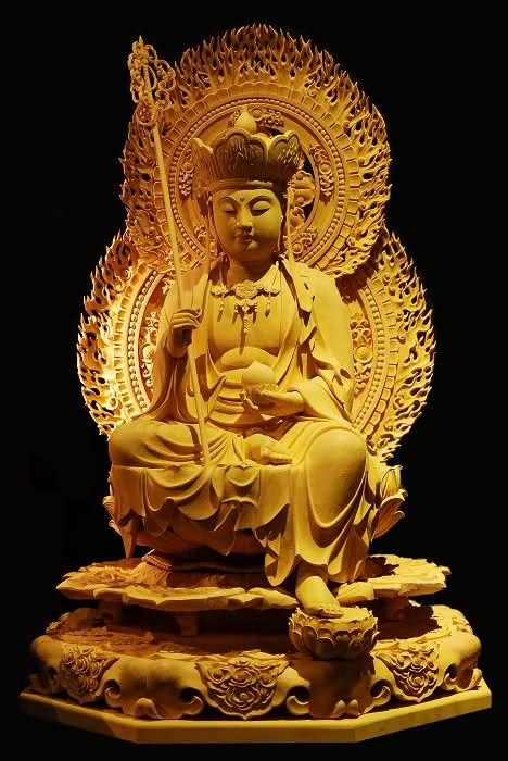 木刻地藏王菩薩 (Ksitigarbha) -