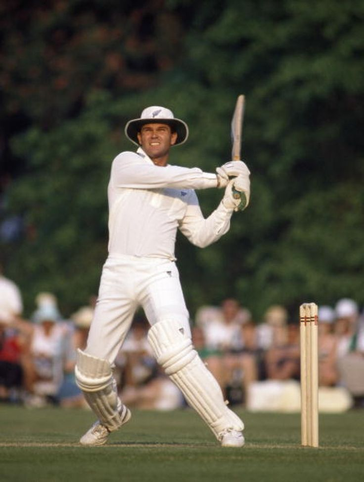 20 Martin Crowe. 1990-4. 18-2-7-7. Right hand batsman and medium pace bowler.