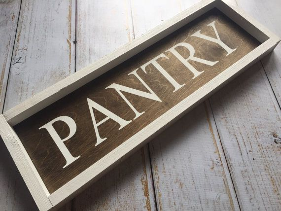 Pantry sign  rustic framed hand painted sign by PrimandProperToo