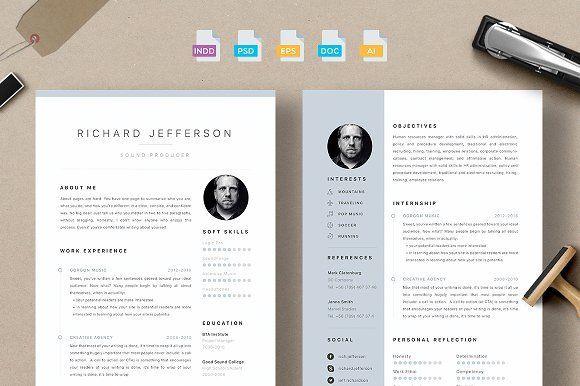 Resume/CV - Jefferson by 3Angle on @creativemarket