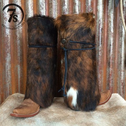 The Abilene Boot Rugs – cowhide boot covers from Savannah Sevens Western Chic