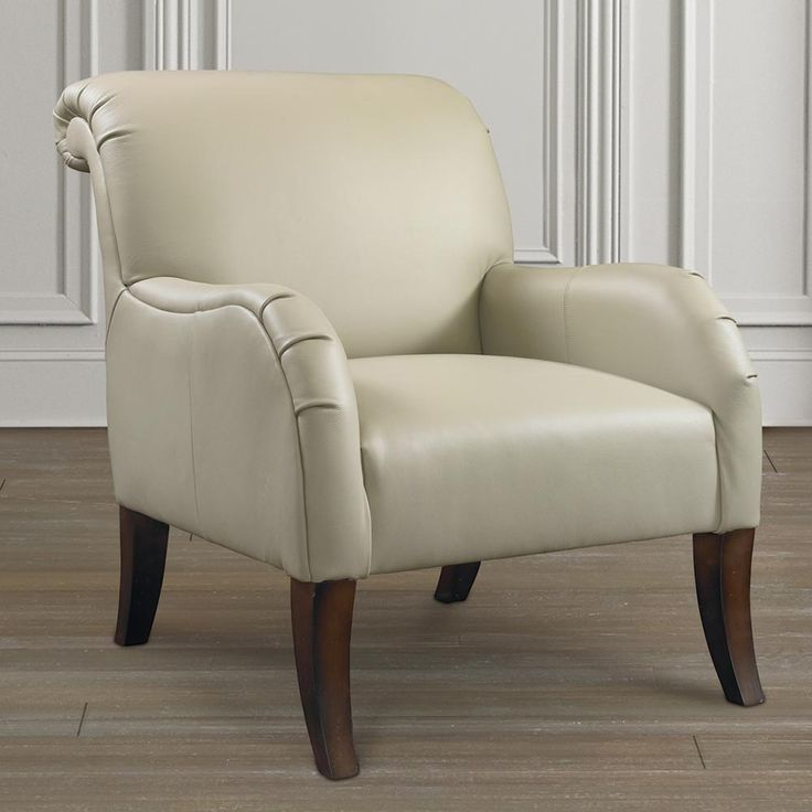 Nora Accent Chair By Bassett Furniture Features A Rolled Tight Back With  Curved Arms, Tall