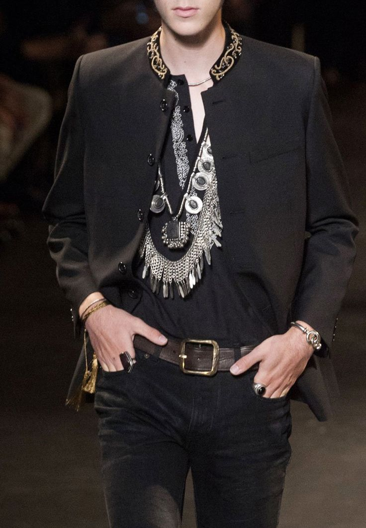 monsieurcouture:  Saint Laurent S/S 2015 Menswear  Haute Couture blog :)