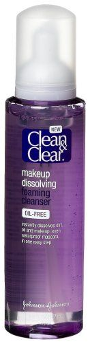 Clean & Clear Makeup Dissolving Foaming Cleanser, 6-Ounce Bottles (Pack of 3)   Price: $59.99 Body Care Tips