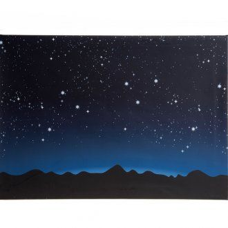 Nativity backdrop, luminous sky and mountains with LED lights 70 | online sales on HOLYART.com