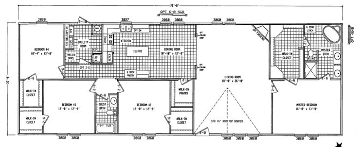 double wide floor plans 4 bedroom vwxg more let s build double wide