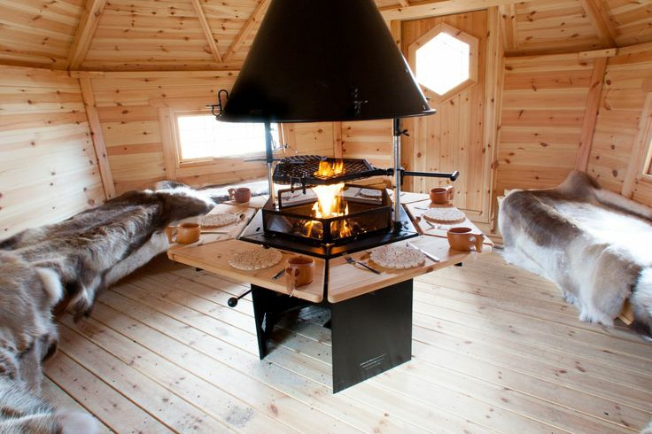 Inside an Arctic Barbecue Cabin, these cabins are handmade in Derbyshire www.arcticcabins.co.uk