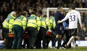 2012 FA Cup: Fabrice Muamba remains in ICU, Fabrice Muamba collapse (Video)