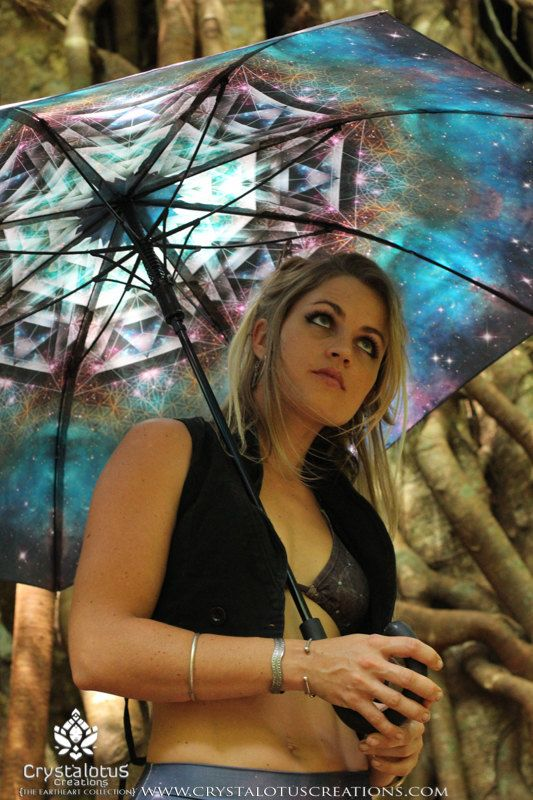 MERKASTAR Crystalotus print Umbrella shade by CrystalotusCreations