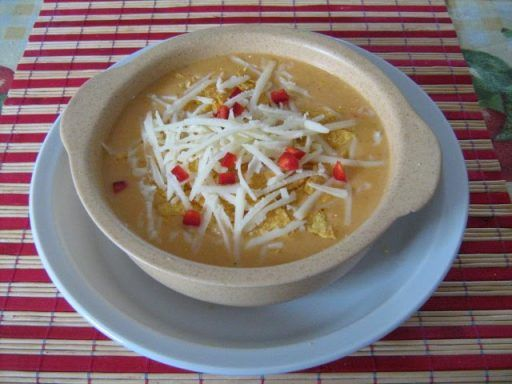 Sopa de maiz, a mexikóiak kukoricalevese