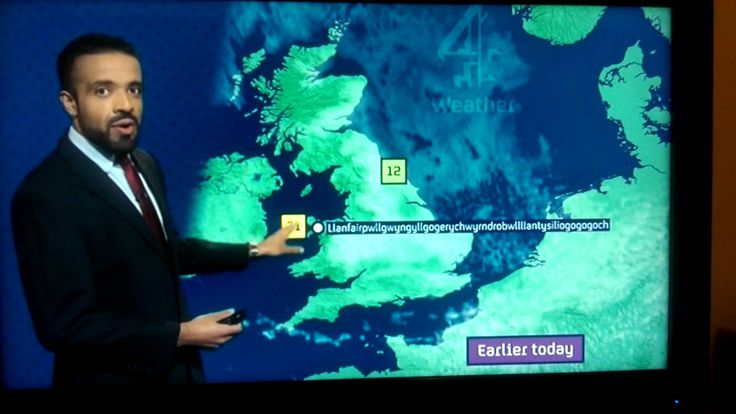 Weatherman Nails The Pronunciation Of This 58-Letter Long Welsh Town