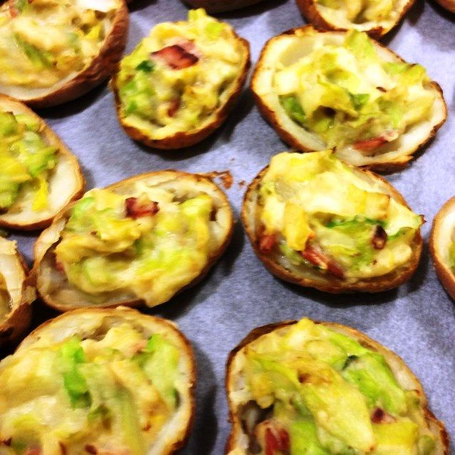 Baked Potato Skins With Colcannon under 400 cal
