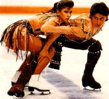 Isabelle & Paul Duchesnay, Skated for Canada then for France due to duel citizenship.  Such a great routine!