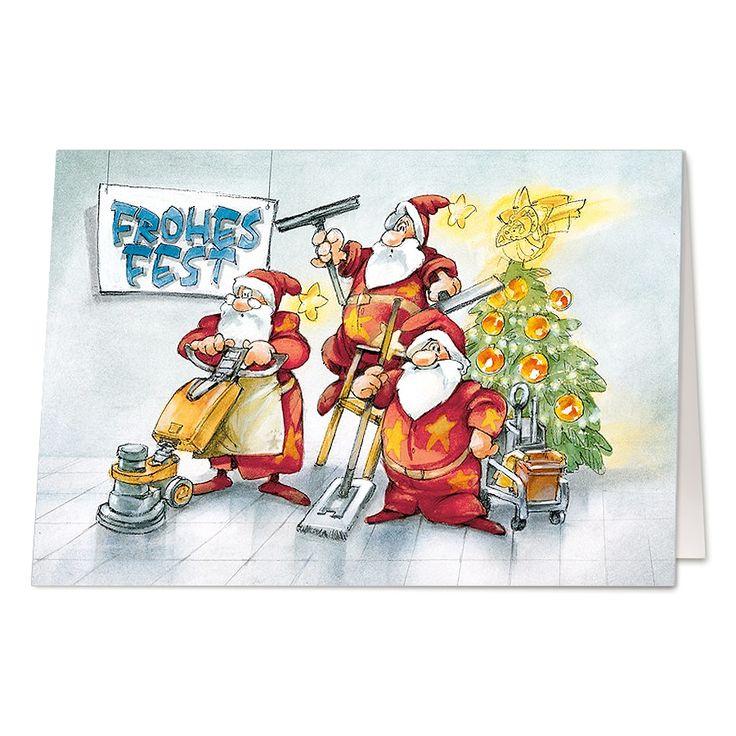 ★Lustige Weihnachtskarten | Reinigungsdienst★ #weihnachten ...