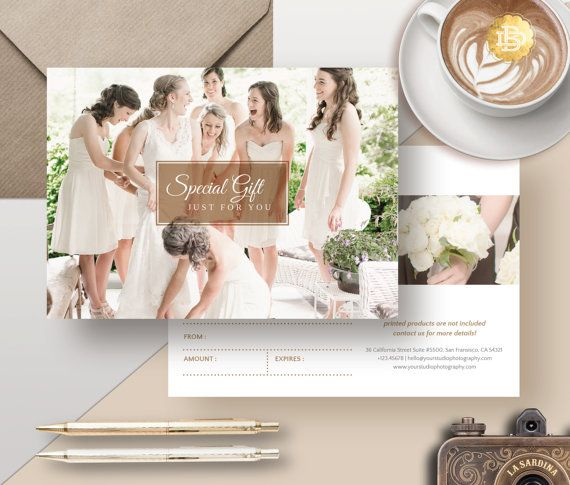 Photography Gift Card Template Photoshop Gift by BellenityDesign