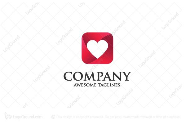 Logo for sale: Love Icon Logo