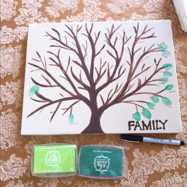 Thumb print family tree.